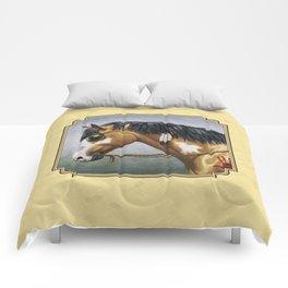 Native American Buckskin Pinto War Horse Comforters