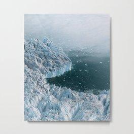 Giant Silent Glacier - Aerial Landscapes Metal Print