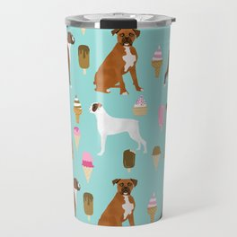 boxer ice cream dog lover pet gifts cute boxers pure breeds Travel Mug