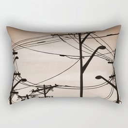 Industry poles vintage Rectangular Pillow