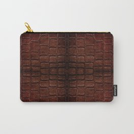 Dark brown snake leather cloth imitation Carry-All Pouch