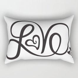 Endless Love Print Rectangular Pillow