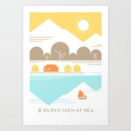 Burly Men at Sea Village Art Print