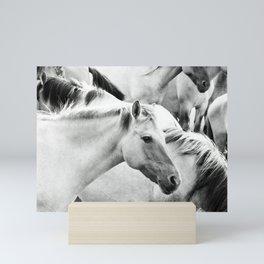 Wild horses Mini Art Print