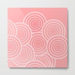 Circular Blush (pattern) Metal Print
