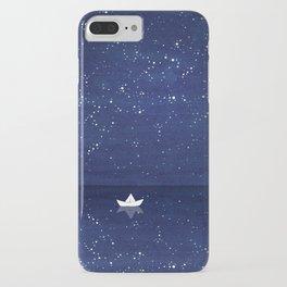 Zen sailing, ocean, stars iPhone Case