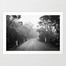 Mount Wellington Misty Road Art Print