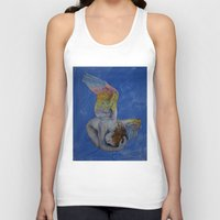 angel Tank Tops featuring Angel by Michael Creese