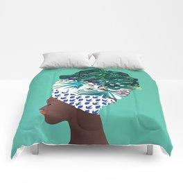Tofo, Mozambique Capulana Lady Comforters