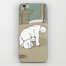Polar Bear Mother and Son iPhone & iPod Skin