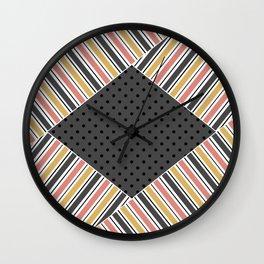 Set 2 striped Wall Clock
