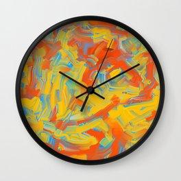 Coarse Brushstrokes Wall Clock