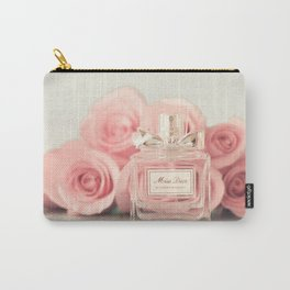 Fashion art, perfume and roses Carry-All Pouch