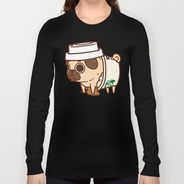 Puglie Pugkin Spice Latte Long Sleeve T-shirt
