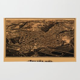 Map Of Ithaca 1882 Rug