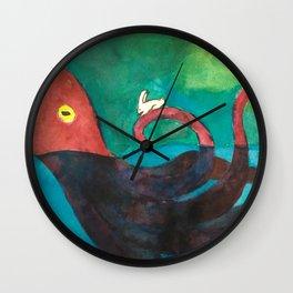 Octopus and Rabbit Wall Clock