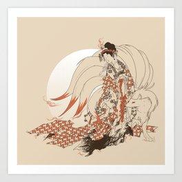 Ninetales Daji Art Print