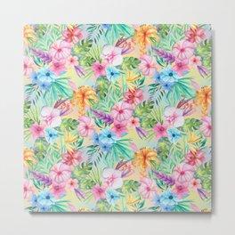Wispy Summer Floral Metal Print