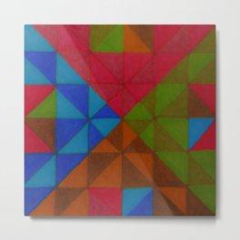 triangle color blocks 4 Metal Print