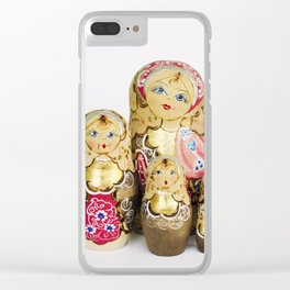 Babushka nesting dolls Clear iPhone Case