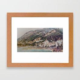 Amalfi Surrealism Framed Art Print