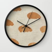 hippo Wall Clocks featuring hippo by sinonelineman