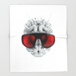 Keep a Cool Mind Throw Blanket