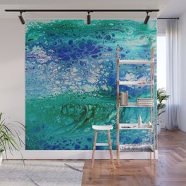 Colors of the Sea No.3 / acrylic pour art Wall Mural