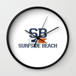 Surfside Beach - South Carolina. Wall Clock