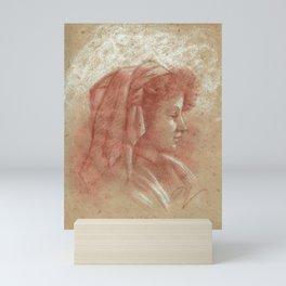 Portrait of a young girl (2) Mini Art Print