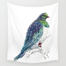 Mr Kereru, New Zealand native wood pigeon Wall Tapestry