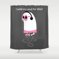 ghost Shower Curtains featuring Ghost by mailboxdisco