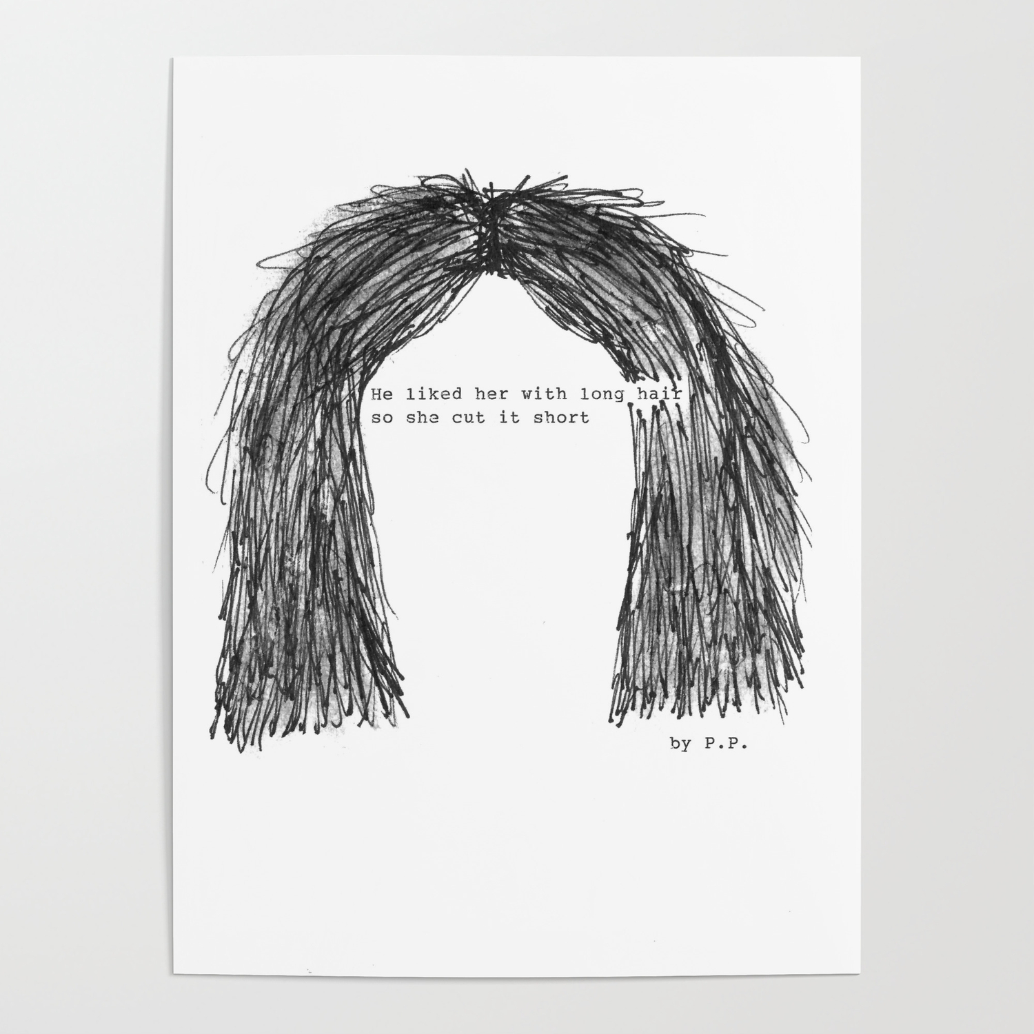 Short hair famous tumblr quote by pien pouwels poster