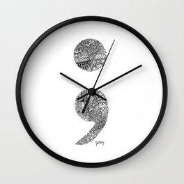 Patterned Semicolon #2 Wall Clock
