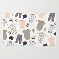 baby Area & Throw Rugs featuring baby by Ceren Aksu Dikenci