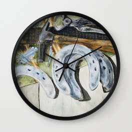A Farrier's Tools Wall Clock
