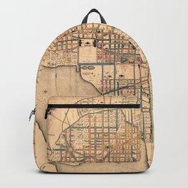 Vintage Map of Washington D.C. (1879) Backpack