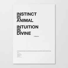 instinct and intuition Canvas Print