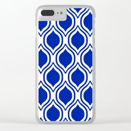 Ogee Florida University silhouette orange and blue pattern sports football college gators gator fan Clear iPhone Case