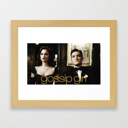 Gossip Girl Framed Art Print