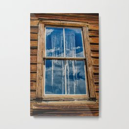 Bodie Ghostly Window Metal Print