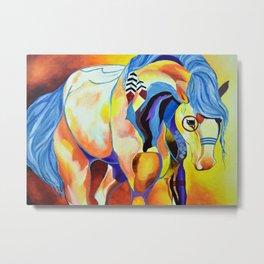 Native American Horse Metal Print