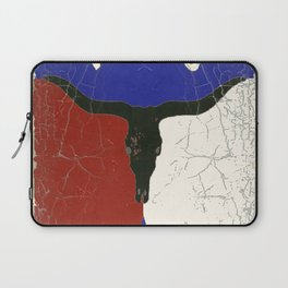 Texas State Flag Longhorn Antique Style Pattern Art Laptop Sleeve