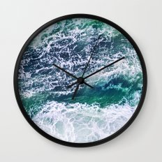 In Waves Wall Clock