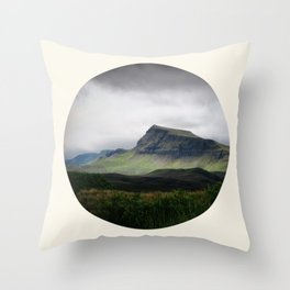 Cloudy Cliff Throw Pillow