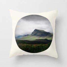 Cloudy Cliff Throw Pillow