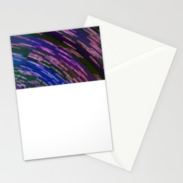 Traces of colored lights Stationery Cards