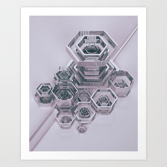 RECURSIVE.GEO (everyday 01.11.17) Art Print