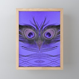 Purple Peacock Feather Bird Framed Mini Art Print