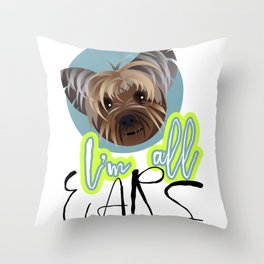 I'm All Ears Throw Pillow